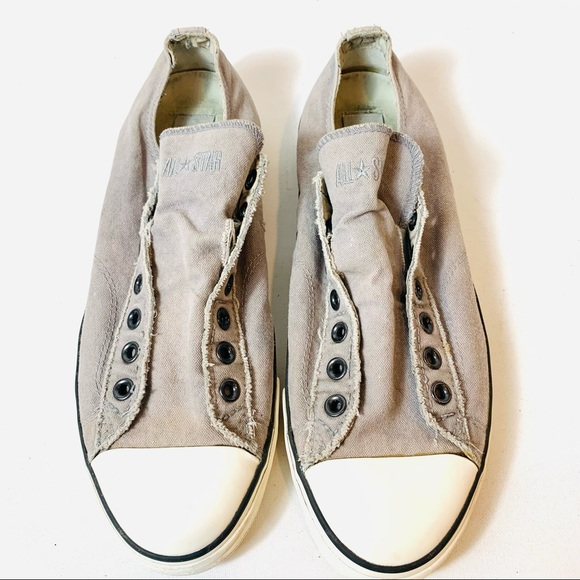 Converse All Star John Varvatos Mens Sz 10.5 Slip On Canvas Sneaker 103423 Khaki